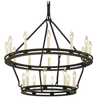 Bowery + Grove 53123-TBI Appian Way 20 Light 32 inch Textured Black Chandelier Ceiling Light