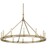 Bowery + Grove 53126-CSI Appian Way 12 Light 44 inch Champagne Silver Leaf Chandelier Ceiling Light