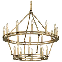 Bowery + Grove 53127-CSI Appian Way 20 Light 32 inch Champagne Silver Leaf Chandelier Ceiling Light