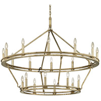 Bowery + Grove 53128-CSI Appian Way 20 Light 44 inch Champagne Silver Leaf Chandelier Ceiling Light