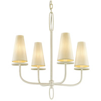 Bowery + Grove 53091-GWI Arbuckle Ave 4 Light 26 inch Gesso White Chandelier Ceiling Light