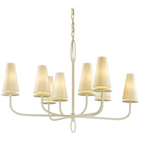 Bowery + Grove 53092-GWI Arbuckle Ave 8 Light 43 inch Gesso White Chandelier Ceiling Light