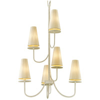 Bowery + Grove 53093-GWI Arbuckle Ave 6 Light 28 inch Gesso White Chandelier Ceiling Light