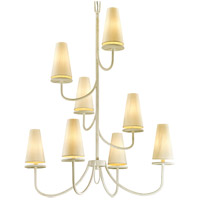 Bowery + Grove 53094-GWI Arbuckle Ave 8 Light 36 inch Gesso White Chandelier Ceiling Light