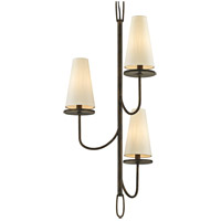 Bowery + Grove 53096-PBI Arbuckle Ave 3 Light 18 inch Pompeii Bronze Chandelier Ceiling Light