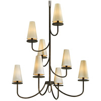 Bowery + Grove 53099-PBI Arbuckle Ave 8 Light 36 inch Pompeii Bronze Chandelier Ceiling Light