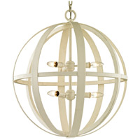Bowery + Grove 53073-GWI Hayward 6 Light 24 inch Gesso White Pendant Ceiling Light