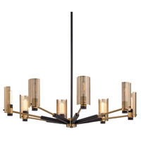 Bowery + Grove 58358-MBI Michael 8 Light 40 inch Modern Bronze and Aged Brass Chandelier Ceiling Light