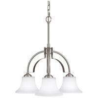Bowery + Grove 55323-BSOE Greyhawk Pl 3 Light 23 inch Brushed Steel Chandelier Ceiling Light