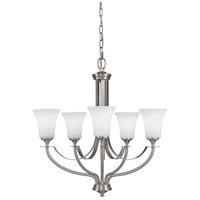 Bowery + Grove 55325-BSOE Greyhawk Pl 5 Light 26 inch Brushed Steel Chandelier Ceiling Light