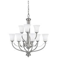 Bowery + Grove 55336-BSOE Greyhawk Pl 9 Light 29 inch Brushed Steel Chandelier Ceiling Light