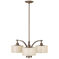 Bowery + Grove 55330-CBSP Amaryllis 3 Light 27 inch Corinthian Bronze Chandelier Ceiling Light in Striated Pearl Glass