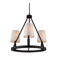 Bowery + Grove 50849-OR Golly 3 Light 23 inch Oil Rubbed Bronze Chandelier Ceiling Light
