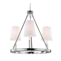 Bowery + Grove 50850-PN Golly 3 Light 23 inch Polished Nickel Chandelier Ceiling Light