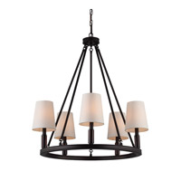 Bowery + Grove 50853-OR Golly 5 Light 28 inch Oil Rubbed Bronze Chandelier Ceiling Light