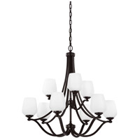 Bowery + Grove 55333-HBOE Passion 9 Light 32 inch Heritage Bronze Chandelier Ceiling Light in Standard