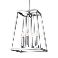 Bowery + Grove 51257-C Des Moines 4 Light 13 inch Chrome Pendant Ceiling Light
