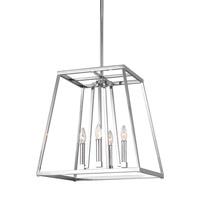 Bowery + Grove 51259-C Des Moines 4 Light 18 inch Chrome Pendant Ceiling Light