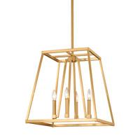 Bowery + Grove 51260-GS Des Moines 4 Light 18 inch Gilded Satin Brass Pendant Ceiling Light