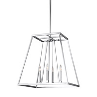 Bowery + Grove 51261-C Des Moines 4 Light 23 inch Chrome Pendant Ceiling Light