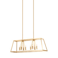 Bowery + Grove 51264-GS Des Moines 8 Light 13 inch Gilded Satin Brass Chandelier Ceiling Light