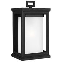 Bowery + Grove 51146-TBWO Terni 1 Light 14 inch Textured Black Outdoor Wall Lantern White Opal Glass