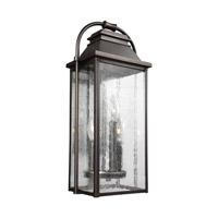 Bowery + Grove 51214-ABCS Nolan 3 Light 18 inch Antique Bronze Outdoor Wall Lantern