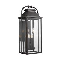 Bowery + Grove 51455-ABCS Nolan 4 Light 27 inch Antique Bronze Outdoor Wall Lantern