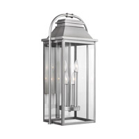 Bowery + Grove 51218-PBCG Nolan 4 Light 27 inch Painted Brushed Steel Outdoor Wall Lantern