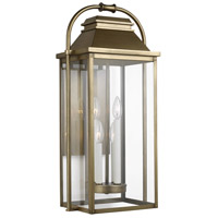Bowery + Grove 58476-PDC Nolan 4 Light 27 inch Painted Distressed Brass Outdoor Wall Lantern
