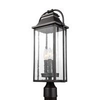 Bowery + Grove 51219-ABCS Nolan 3 Light 21 inch Antique Bronze Outdoor Post Lantern