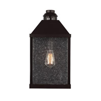 Bowery + Grove 50934-ORCS Elevation 1 Light 19 inch Oil Rubbed Bronze Outdoor Wall Sconce in ST18