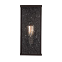 Bowery + Grove 50935-ORCS Elevation 1 Light 15 inch Oil Rubbed Bronze Outdoor Wall Sconce in ST18