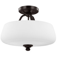 Bowery + Grove 55352-HBOE Passion 3 Light 15 inch Heritage Bronze Semi-Flush Ceiling Light in Standard