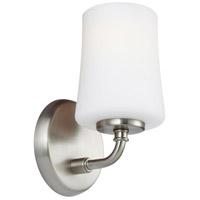 Bowery + Grove 55314-SNWO Gilson Ave 1 Light 5 inch Satin Nickel Vanity Light Wall Light