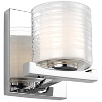 Bowery + Grove 55360-CL Glen Tower Walk LED 6 inch Chrome Wall Sconce Wall Light