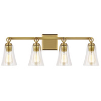 Bowery + Grove 58472-BBCS Altman Ave 4 Light 30 inch Burnished Brass Wall Bath Vanity Wall Light