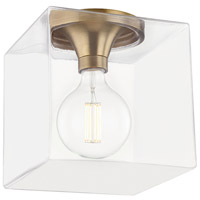 Bowery + Grove 59446-ABCL Brayden LED 10 inch Aged Brass Flush Mount Ceiling Light