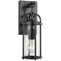 Bowery + Grove 58451-ECS Glencoe Way 17 inch Espresso Outdoor Wall Lantern in Clear Seedy Glass Standard