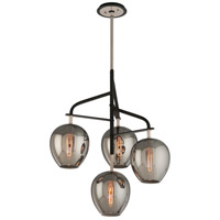 Bowery + Grove 51426-CB Newland 4 Light 24 inch Carbide Black and Polished Nickel Pendant Ceiling Light