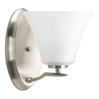 Bowery + Grove 51785-BNE Annette St 1 Light 7 inch Brushed Nickel Bath Vanity Wall Light in Bulbs Not Included Etched