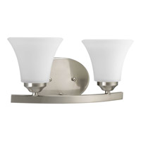 Bowery + Grove 51847-BNE Germain St 2 Light 13 inch Brushed Nickel Bath Vanity Wall Light in Etched