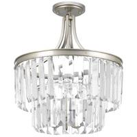 Bowery + Grove 53327-SRC Palermo 3 Light 16 inch Silver Ridge Semi-Flush Convertible Pendant Ceiling Light Design Series