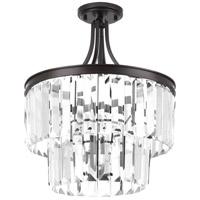 Bowery + Grove 53328-ABC Palermo 3 Light 16 inch Antique Bronze Semi-Flush Convertible Pendant Ceiling Light Design Series