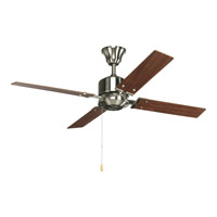 Bowery + Grove 51776-BN Angelina St 52 inch Brushed Nickel Ceiling Fan in Cherry/Natural Cherry