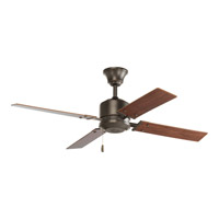 Bowery + Grove 51777-AB Angelina St 52 inch Antique Bronze Ceiling Fan in Medium Cherry/Classic Walnut