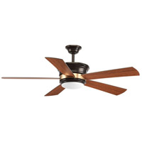 Bowery + Grove 53135-ABWO Green Lake 54 inch Antique Bronze with Walnut/Medium Cherry Blades Ceiling Fan