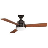 Bowery + Grove 53138-ABEO Boston 52 inch Antique Bronze with Medium Cherry/Classic Walnut Blades Ceiling Fan