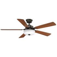 Bowery + Grove 53149-ABL Garland 54 inch Antique Bronze with Medium Cherry/Black Blades Ceiling Fan