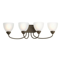 Bowery + Grove 51922-ABE Armstrong 4 Light 30 inch Antique Bronze Bath Vanity Wall Light